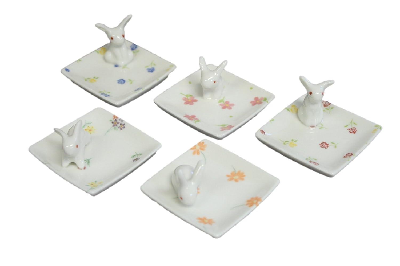 Flowers of Spring Miniature Rabbits Chopsticks Rest Spoon Rest ACS WEB SHOP