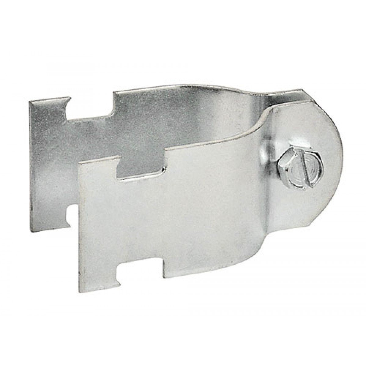 5 Pcs, 2 In. Two Piece Rigid Conduit Strut Clamp, Zinc Plated Steel Used to Mount 2In Rigid Conduits From Strut Channel