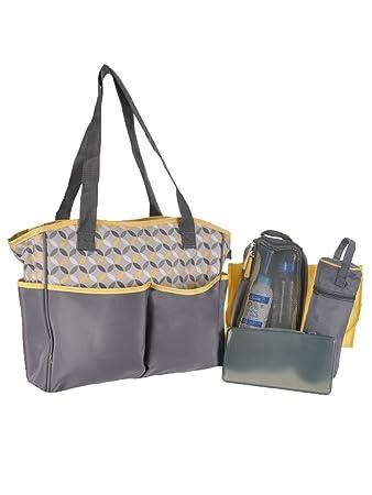 0ea14271812e Amazon.com : Baby Boom 5-Piece Tote Diaper Bag Set : Baby