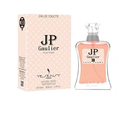 JP GAULIER (clásica para mujer más concentrada y bonita), diseño de frasco de