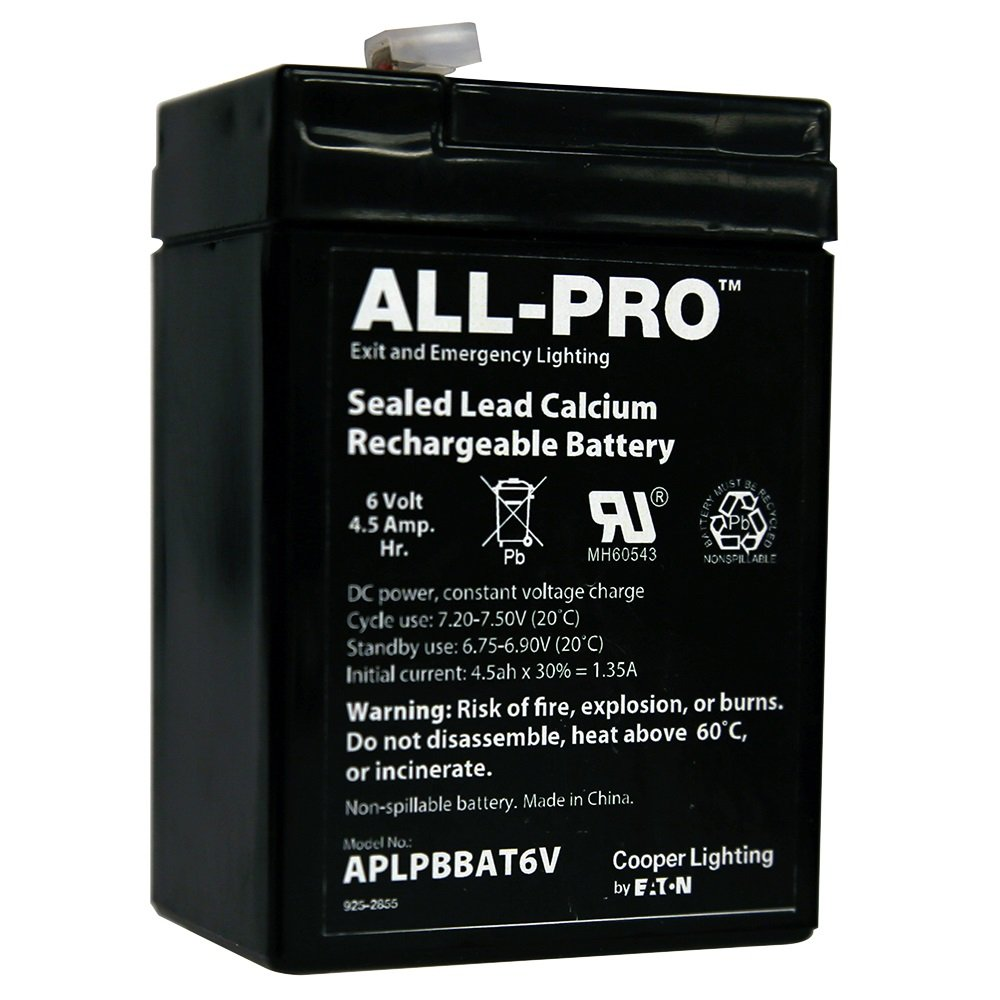 ALL-PRO APLPBBAT6V Replacement Battery, Black by All Pro
