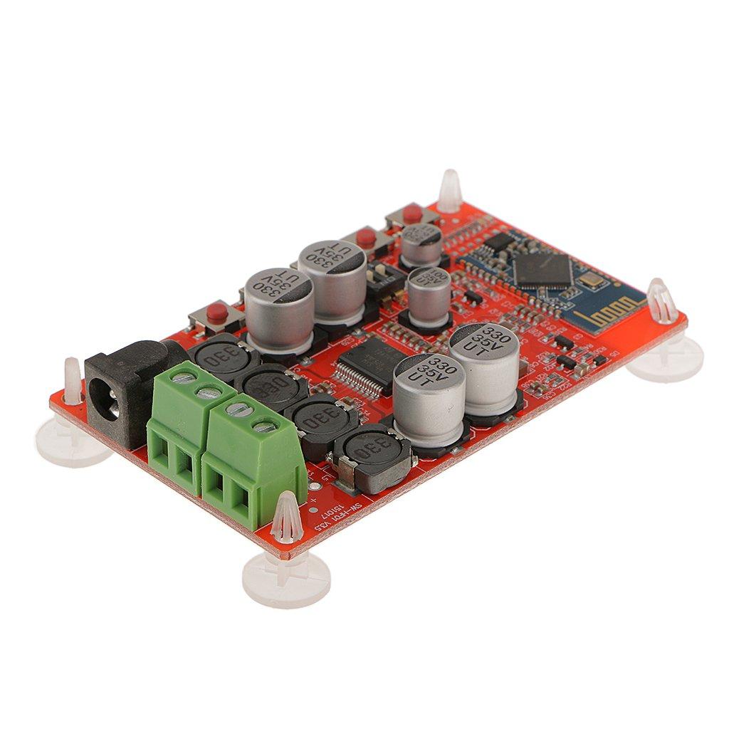 Generic Tda7492p 50w Wireless Bluetooth 40 Audio Tda7492 Digital Power Amplifier Circuit Board Blue Silver Electronics