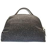 Borbonese Borsa Borbonese Sexy Bag Medium In Tessuto Fango Brown