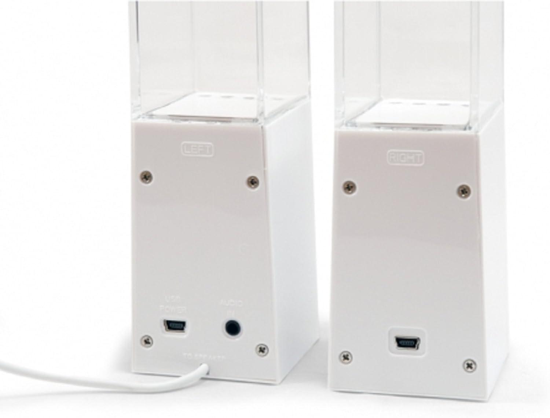 Conceptronic Dancing Water Kit de 2 altavoces de ordenador USB blanco