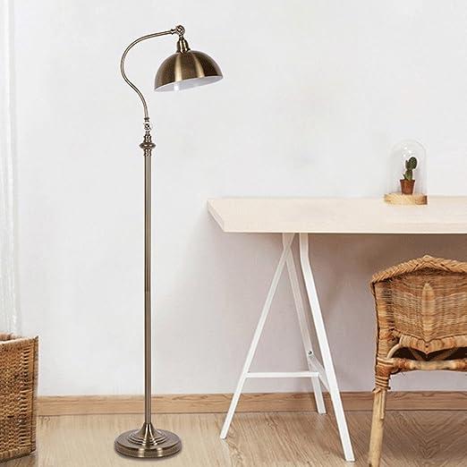 Frelt Lampadaire Vintage cuivre lampadaire salon lampadaire