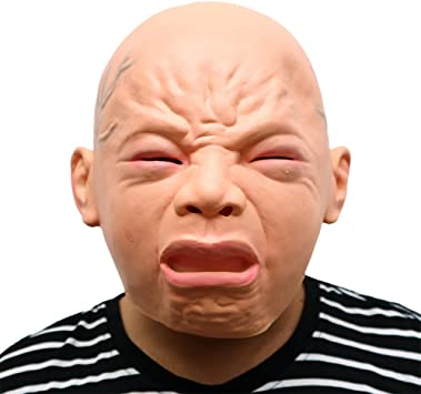 Morbuy Terror Máscara de Halloween, Adulto Látex Novedad Horror ...