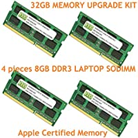 32GB (4 X 8GB) DDR3-1333MHz PC3-10600 SODIMM for Apple iMac 27 Mid 2010 Intel Core i5 Quad-Core 3.6GHz MC510LL/A (iMac 11,3)
