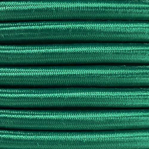 Bungee Shock Cord ¼ inch Marine Grade Elastic Rope Moisture Weather Resistant - Emerald Green 100 ft