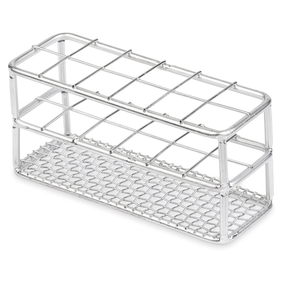 Stainless Steel Test Tube Rack, 25mm, 12 Place, Wire Constructed, Karter Scientific 234N3 (Single) by Karter Scientific