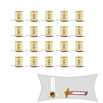 GOODCHANCEUK - Casquillo de cobre para lámparas de proyectos electrónicos (20 unidades)
