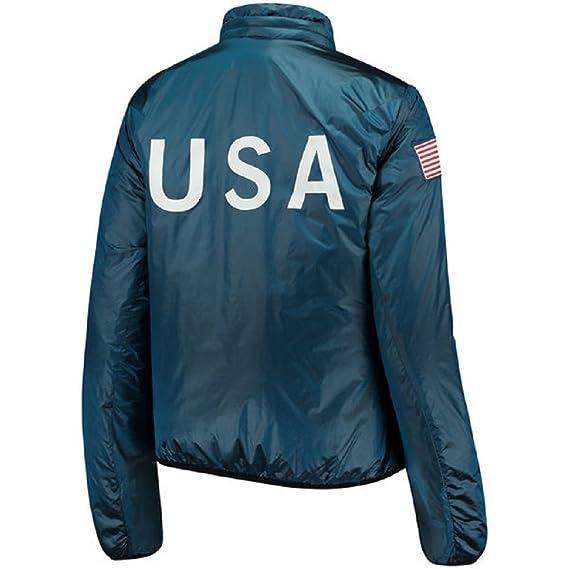 ac1659fd2bb1 Amazon.com  NIKE NikeLab Women s Blue Team USA Full-Zip Midlayer Jacket   Clothing