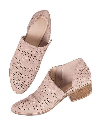 c4161c04c5a4fa Bottine Femmes Plates Boots Femme Cuir Cheville Basse Bottes Talon Chelsea  Chic Compensé Grande Taille Chaussures Beige Noir: Amazon.fr: Chaussures et  Sacs