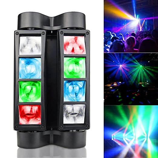 Moving Head Beam Stage Stage 8 Colores LED Spot Lighting Efecto ...