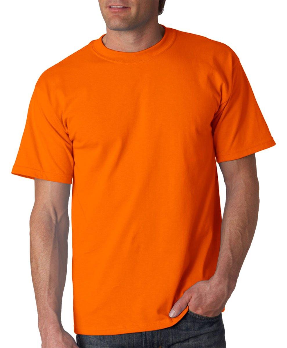 Gildan Mens Ultra Cotton 6 oz. T-Shirt(G200)-Safety ORANGE-4XL