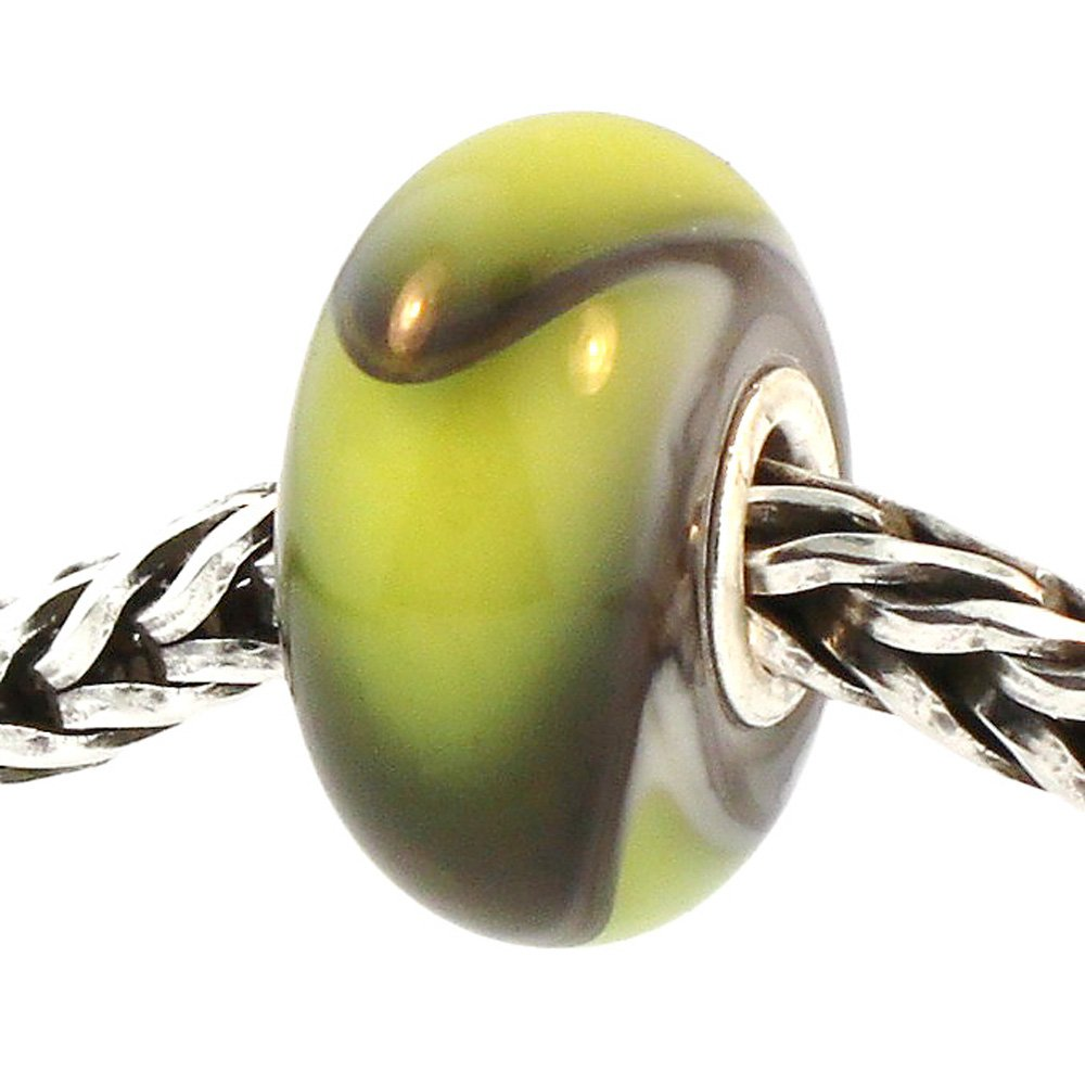 Authentic Trollbeads Glass 61320 Green Armadillo