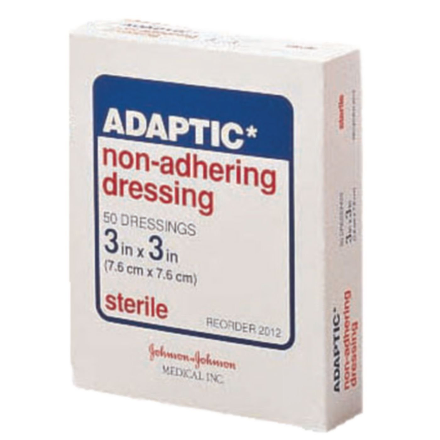 Physical Therapy Aids 081679968 J&J Adaptic Dressing, 3'' x 3'', 50/Pk