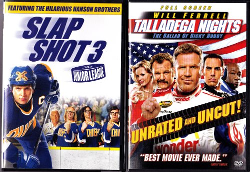 Talladega Nights , Slap Shot 3 : Sports Comedy 2 Pack