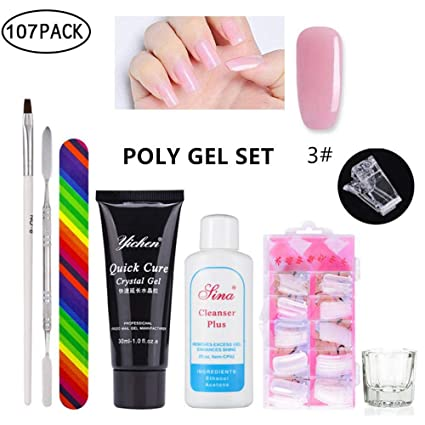 Polygel uñas kit, Poly Gel postizas Fingers Extension Juego ...