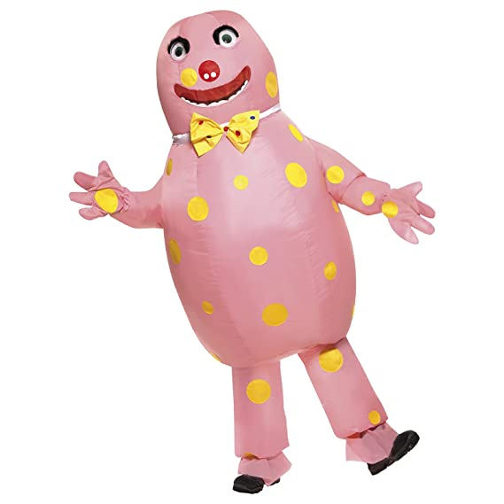 Mens Adult Mr Blobby 1990s Inflatable Stag Do Fun Fancy Dress TV ...