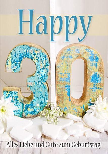 Tarjeta doble con sobre, 30 cumpleaños, cumpleaños ...