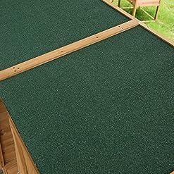 HOMCOM Gabinete Caseta Herramientas Jardín 75x140x160cm Cobertizo Armario de Madera Maciza 2 Puertas 11