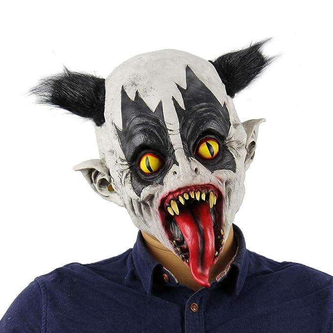 d4c70a9a9b765 Amazon.com: Halloween Mask Scary Zombie Batman Horrific Demon Clown Vampire  Cosplay: Clothing