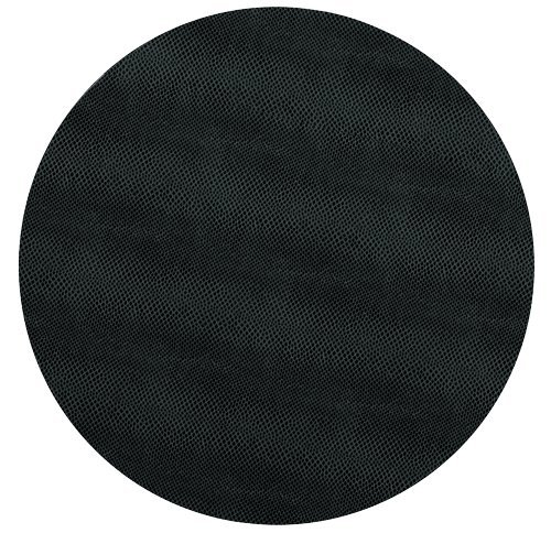 Round Placemats Table Mats Thanksgiving Placemats Placemats Faux Black Leather Pk 6
