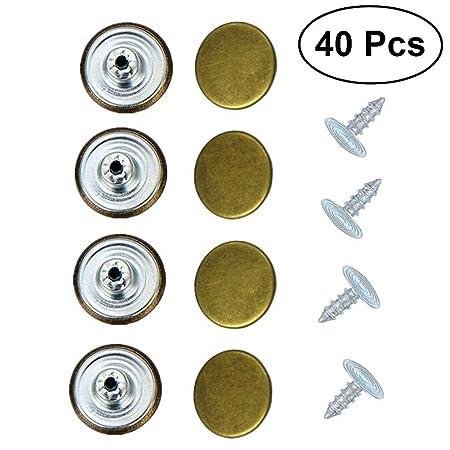 10Pcs Bottoni Vestiti Bottoni in Metallo Bottoni Gambo Bottoni Sagomati per Blazer, Completi, Cappotto, Divisa, Giacca (20mm)