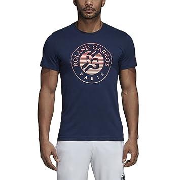 adidas Roland Garros Tee, ATSM0318-MAR-XS, azul marino, XS