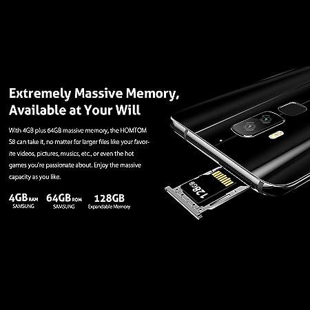 Smartphone Libre, HOMTOM S8 4G Móviles de 5.7 HD IPS Android 7.0 ...