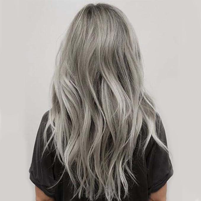 Tinte de pelo unisex de 100 ml, color gris ahumado, color crema, estilo punk, gris claro, plata permanente