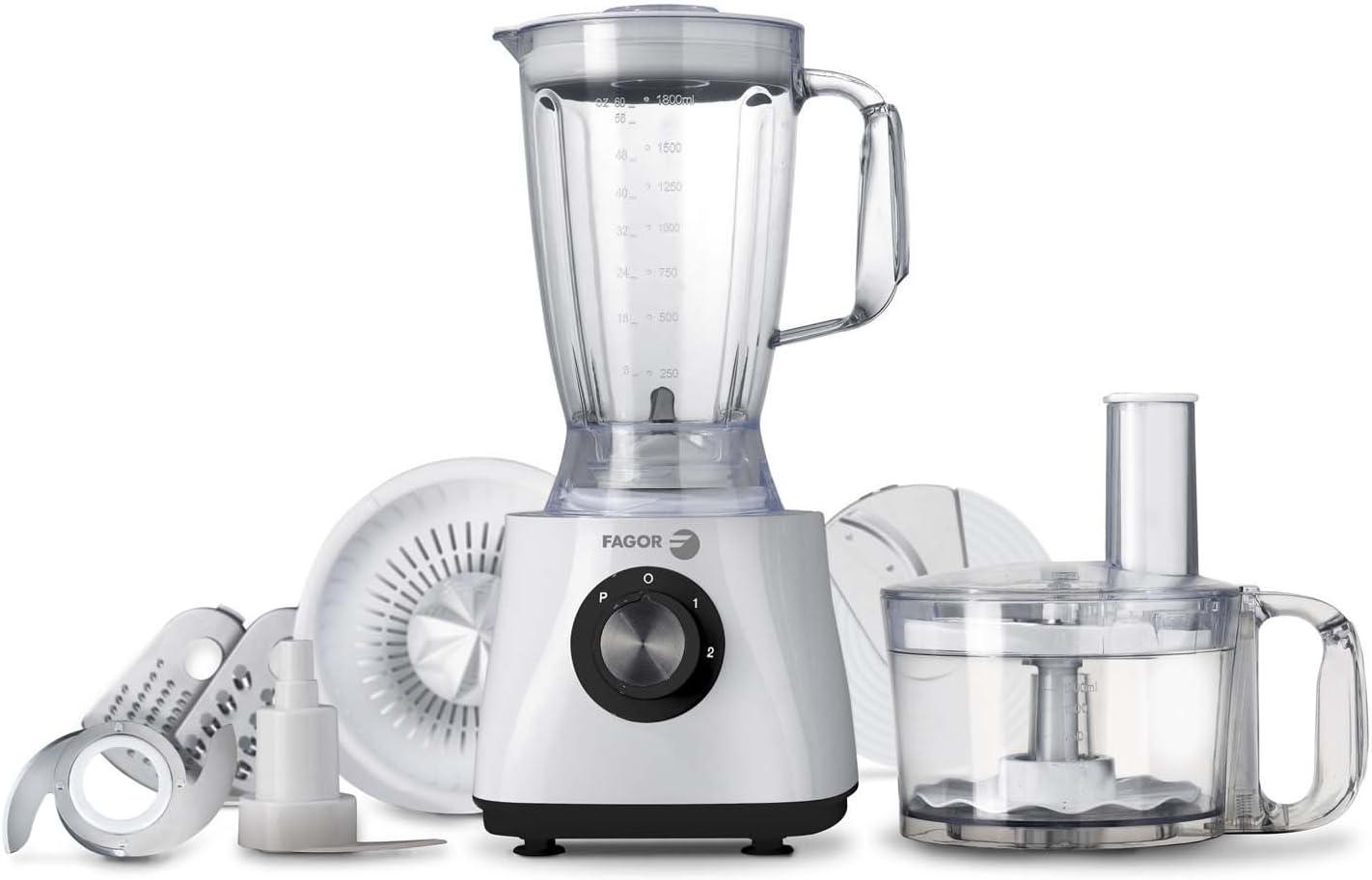 Fagor RT-507 Procesador de alimentos, 500 W, 2 litros, 2 Velocidades, Blanco: Amazon.es: Hogar