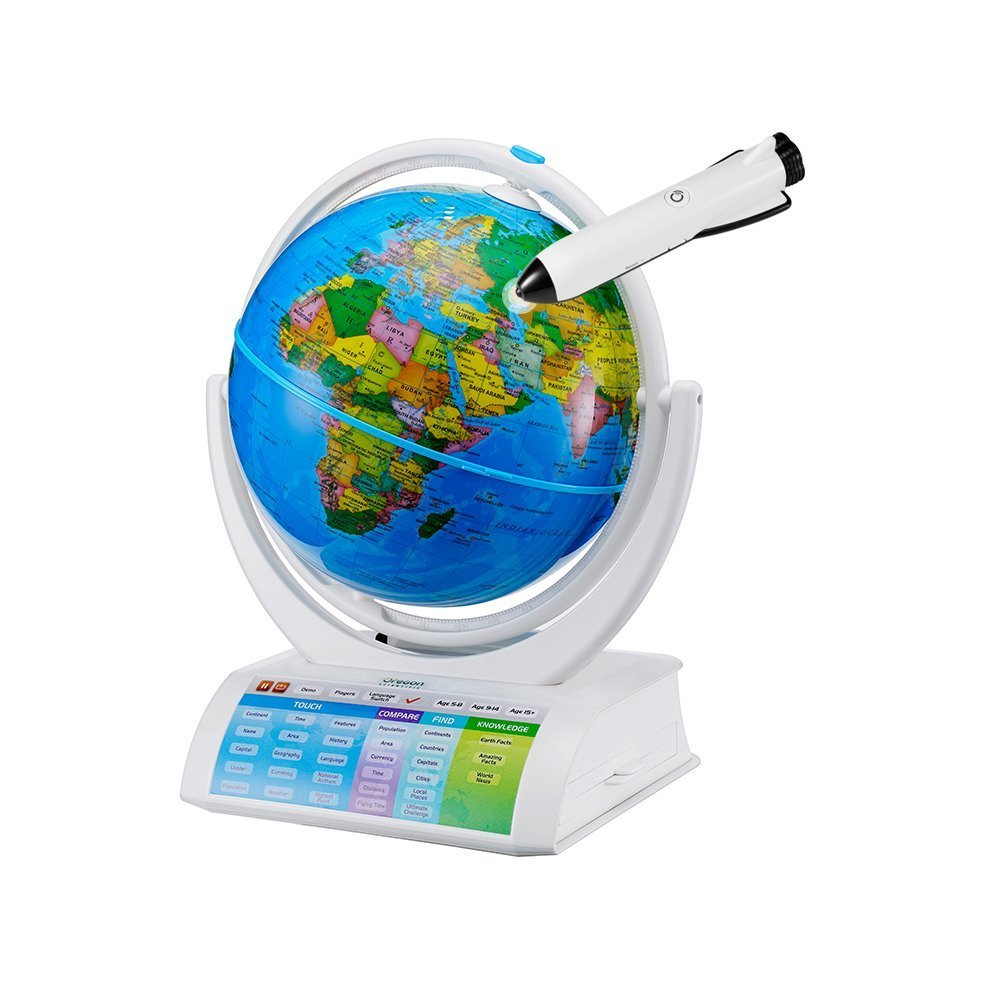 Oregon Scientific SG338R Smart Globe Explorer AR Educational World Geography Kids-Learning Toy Space Planet Science Earths Inner Core Bluetooth Pen by Oregon Scientific
