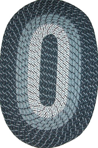 Midnight Oval Rug Blue (Plymouth 30