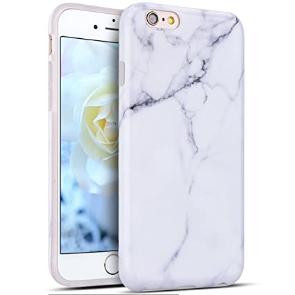 Funda iPhone 6S Plus, Carcasa iPhone 6 Plus Silicona, RosyHeart Mármol Patrón Ultra Delgado TPU Goma Funda para iPhone 6 Plus 6S Plus (5.5 pulgadas) ...