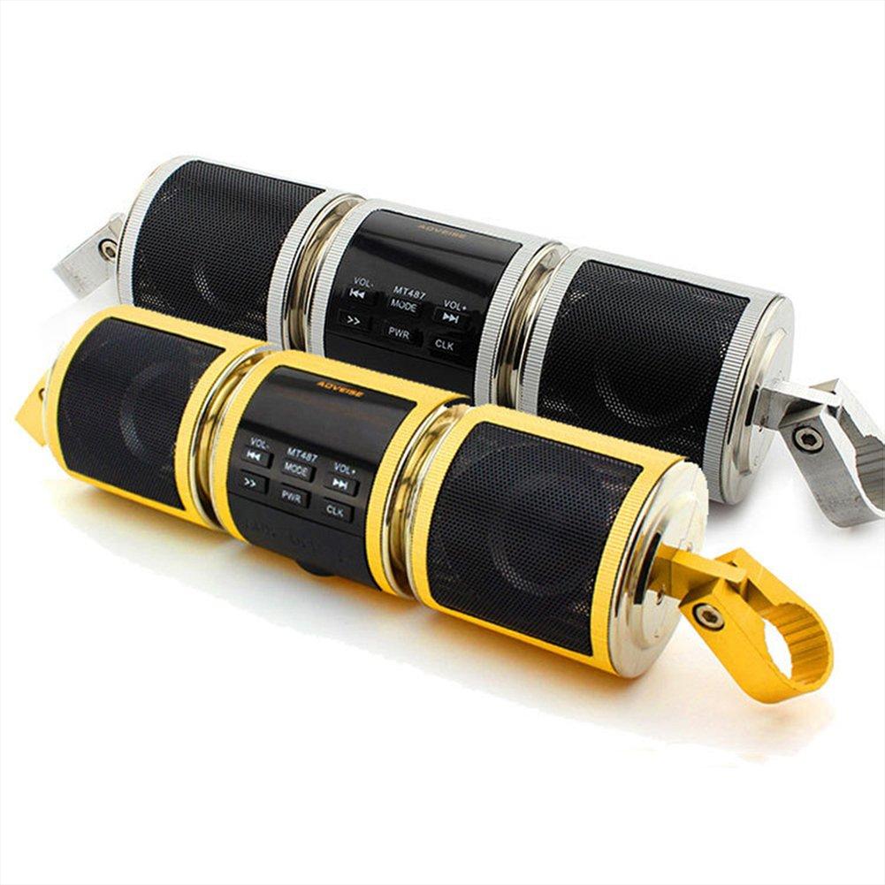 BACKWORLD Altoparlanti Bluetooth Moto Bike Lettore MP3 Audio Moto Scooter FM Radio Allarme di Sicurezza Ingresso USB AUX Impermeabile