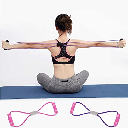 5 Way Elastic Gym Indoor Outdoor Home Arm Muscle Resistance Bands Chest Expander