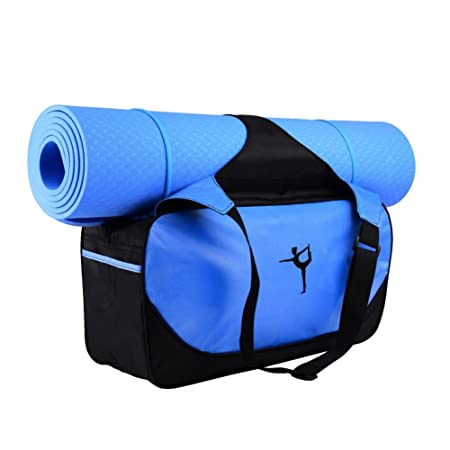 faf77cab26eb Amazon.com   Handfly Exercise Yoga Mat Carry Bag Sports Bag Dance Bag  Duffle Bag with Sturdy Nylon