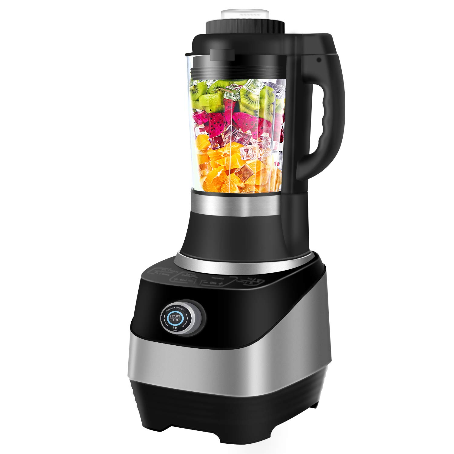 CommercialBlender with Smart touch, Multifunctional Blender, 4 in 1 Smoothie Blender Baby Food Maker, Soup maker 800W Auto-temperature Control Food Processor, Warm Disinfect