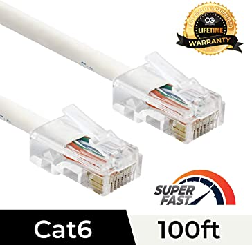 Lifetime Warranty 1ft Black Non-Booted CAT6 Ethernet Patch Cable