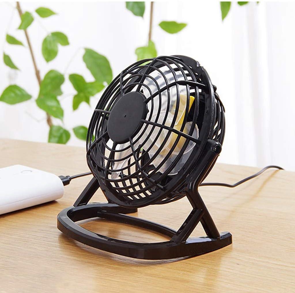 Color : Black JIAHE115 Jiale Portable USB Mini Desktop Fan HJCA19026552 Silent Office//Home Light Desktop Fan