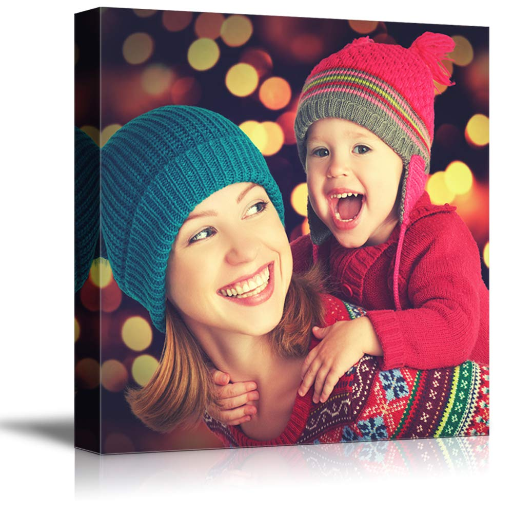 NWT Custom Canvas Prints with Your Photos for Family, Personalized Canvas Pictures for Wall to Print Framed 24x24 inches