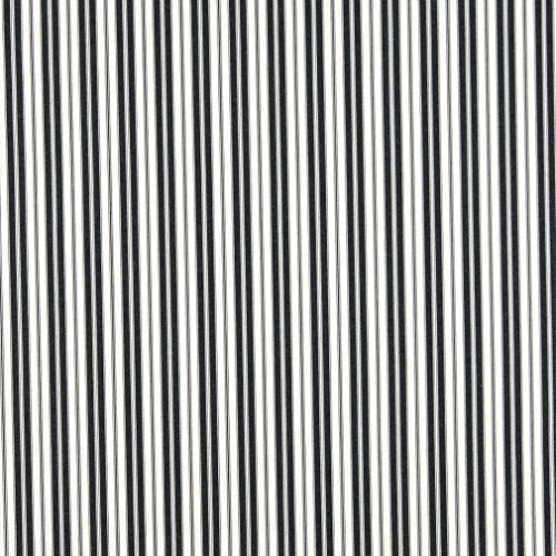 B467 Black Ticking Striped Indoor Outdoor Marine Scotchgard Upholstery Fabric by The - Fabric Upholstery Stripe Outdoor