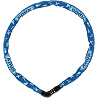 ABUS Candado de cadena Steel-O-Chain 4804C/75 SYMBOLS – Candado de acero – Nivel de seguridad 3 – 75 cm – 86809 – Azul