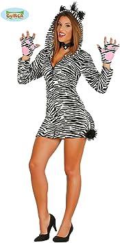 NET TOYS Disfraz Cebra Mujer - XS/S (ES 38/40) | Vestido Cebra ...