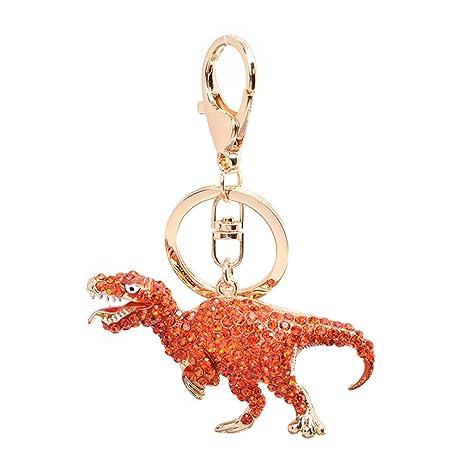 Amazon.com: Llavero tipo dinosaurio con borlas para llaves ...