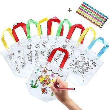 Dsaren 10 Pcs Bolsas para Colorear Niños DIY Hecho a Mano ...