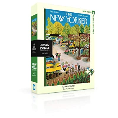 New York Puzzle Company - New Yorker Garden Center - 500 Piece Jigsaw Puzzle: Toys & Games