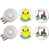 GOLTERS Golf Ball Markers with Hat Clips Value Sets for Men Women Golfer, Removable Attaches Easily to Golf Cap Premium…