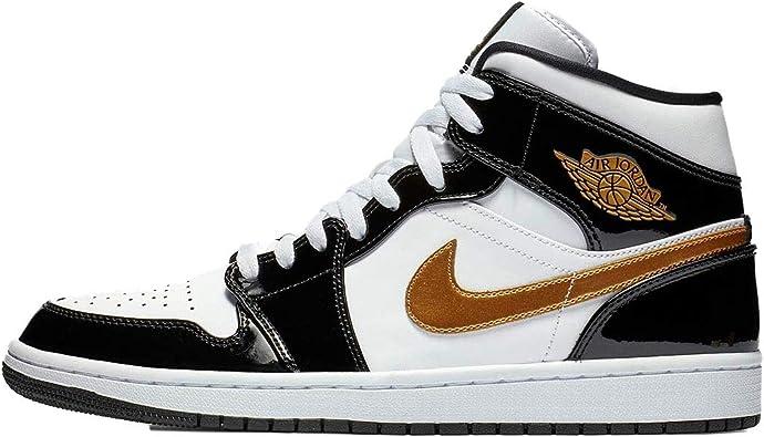 Nike Air Jordan 1 Mid Se para hombre 852542-007, negro ...